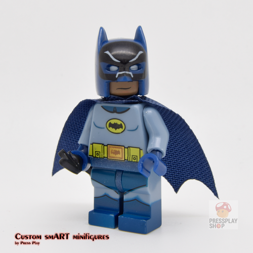 Custom Minifigure - based on the character of Batman ( Batman 1966 TV Series )