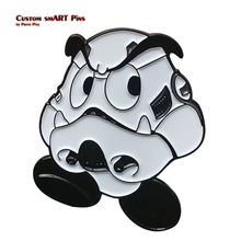 Load image into Gallery viewer, Smart Pins - Goomba x Stormtrooper Mario Wars Pin Badge