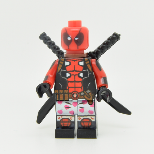 Custom Minifigure - based on the character of Deadpool