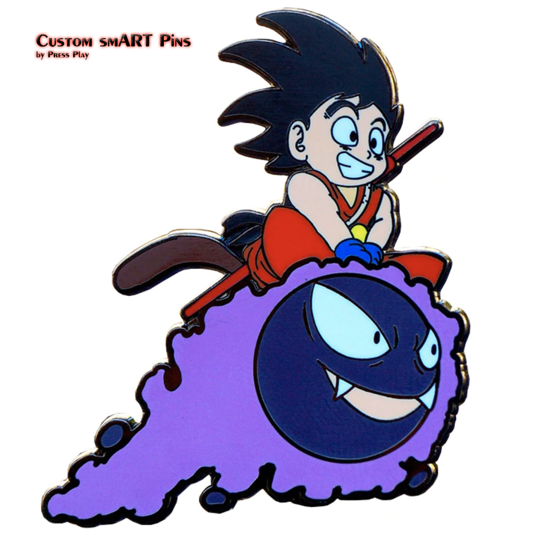 Smart Pins - Goku Gastly Pin Badge