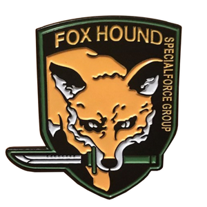 Smart Pins - Limited Edition Fox - Metal Gear Enamel Pin Badge Brooch