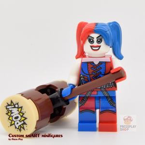 Custom Minifigure - based on the character Harley Quinn V1