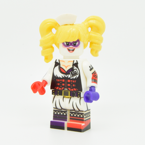 Custom Minifigure - based on the character Harley Quinn