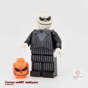 Custom Minifigure - based on the character Jack Skellington