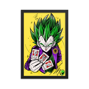 Framed poster - Joker Prince of all Sayan's by Zaalunna