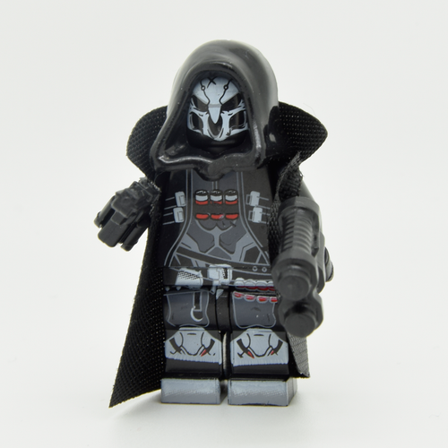 Custom Minifigure - based on the character of Reaper (Overwatch)