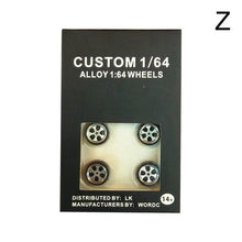 Load image into Gallery viewer, 4pcs/Set 1/64 Car Wheels Tire Modified Vehicle Alloy Car Refit Wheels Tires For Cars Suitable For Some Tomica Cars Toys for Kids