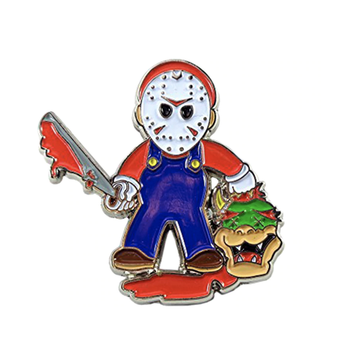 Smart Pins - Limited Edition Mario / Jason Friday 13 Enamel Pin Badge Brooch