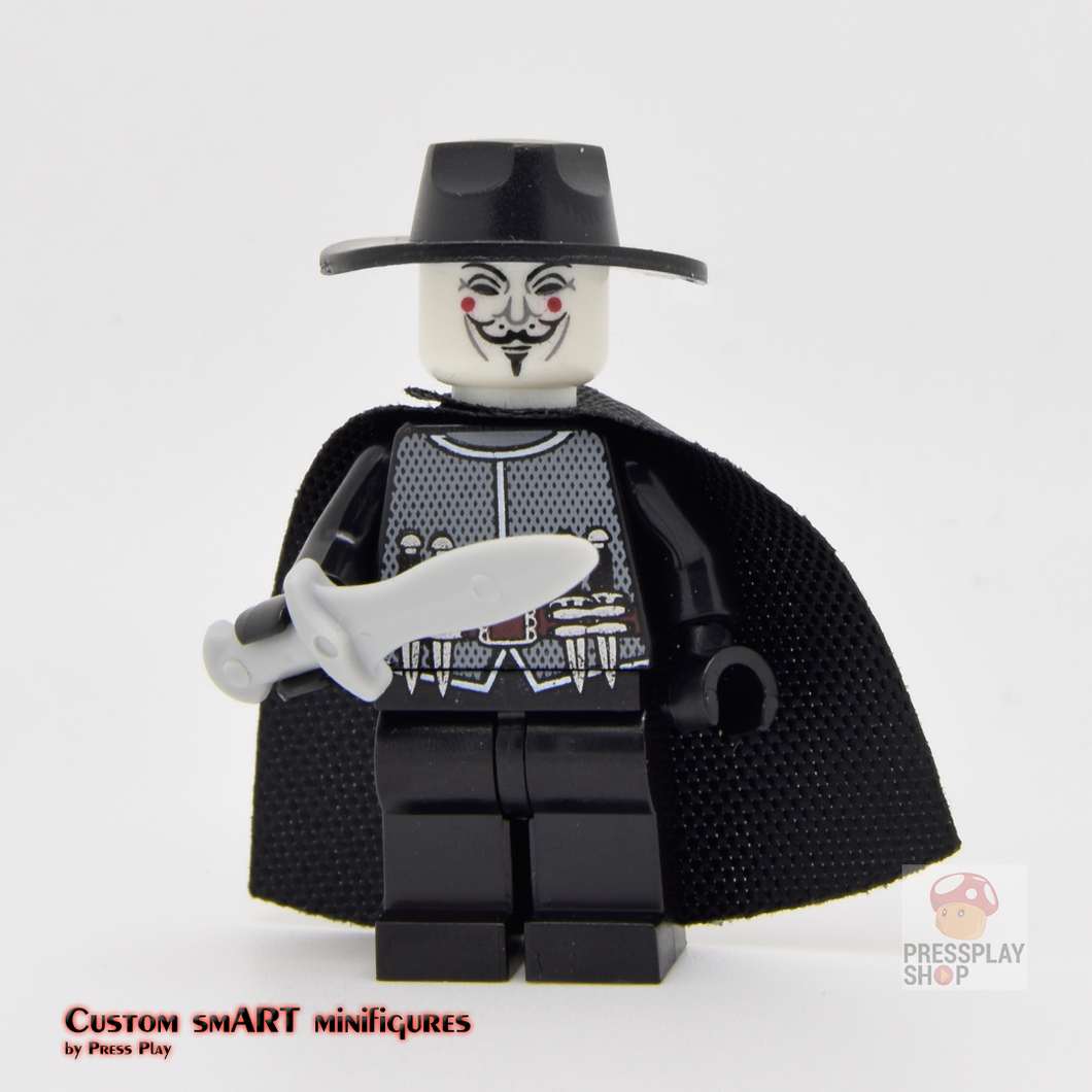 Custom Minifigure - based on the character V for Vendetta
