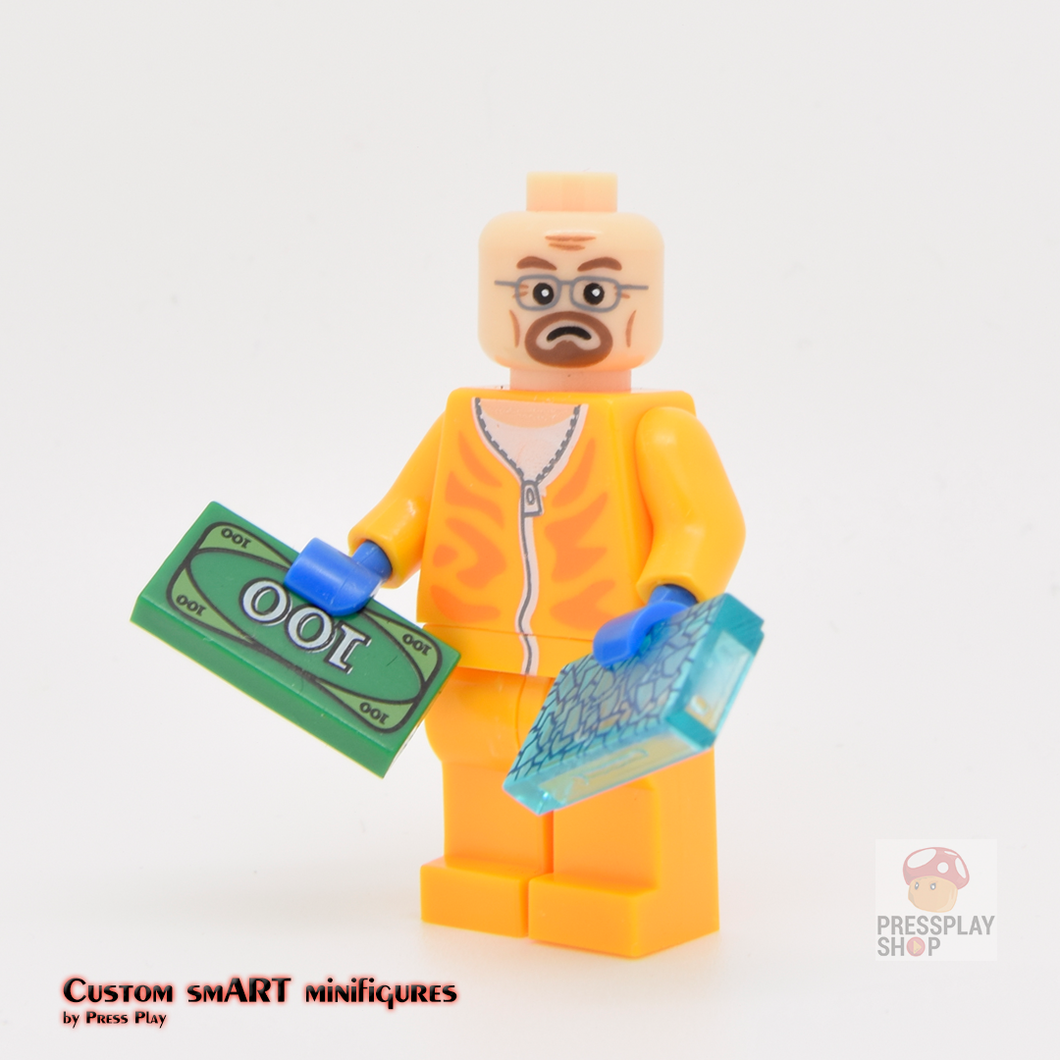 Custom Minifigure - based on the character Walter White (Breaking Bad)
