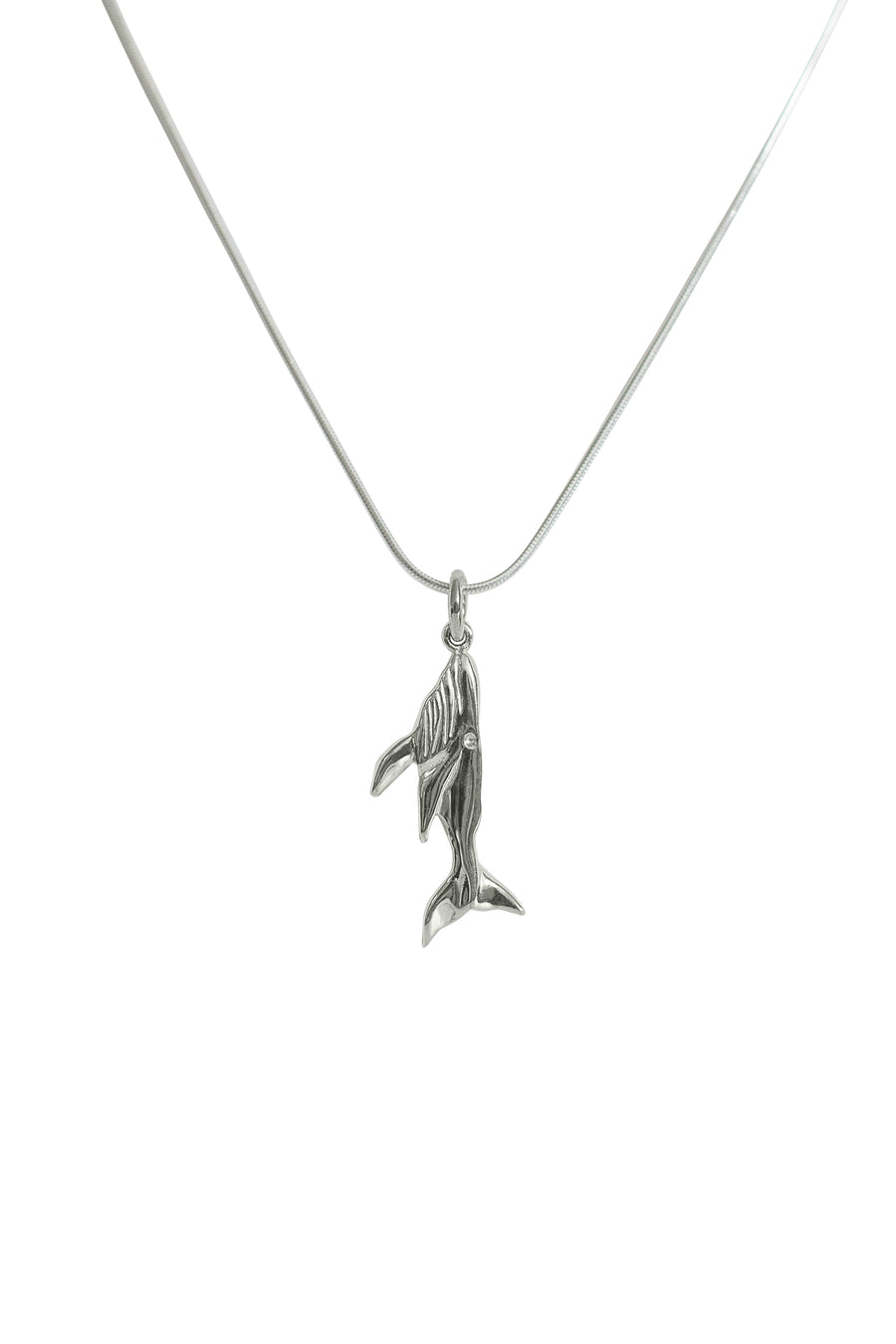 Whale Pendant  - Sterling Silver