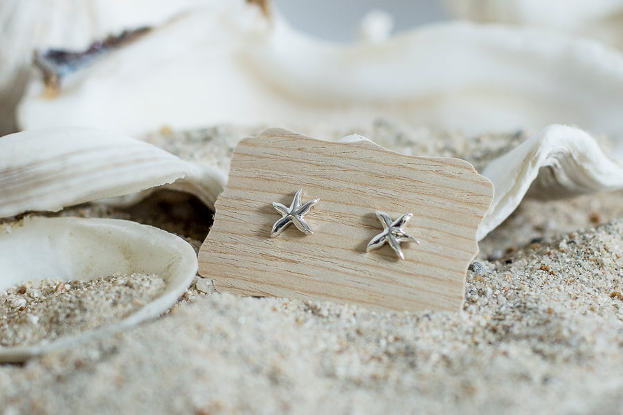 Star Fish Earrings  - Sterling Silver
