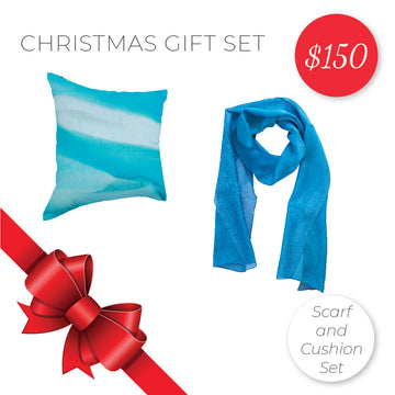 Gift Set - Cushion and Scarf