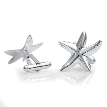 Starfish Cufflinks  - Sterling Silver