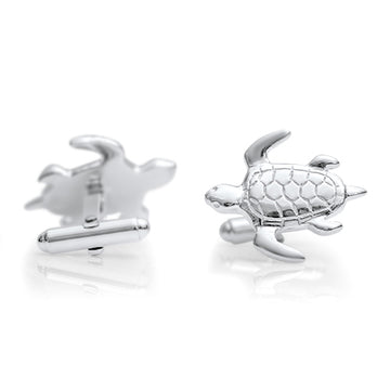 Turtle Cufflinks  - Sterling Silver