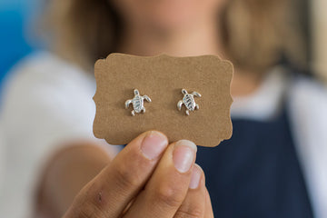 Turtle - Sterling Silver Earrings