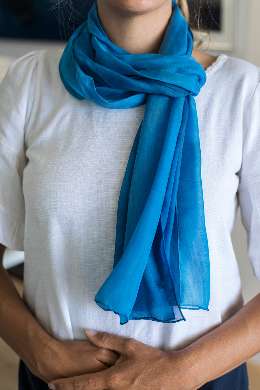 Silk Scarf - 'Whitsunday Whirlpool'