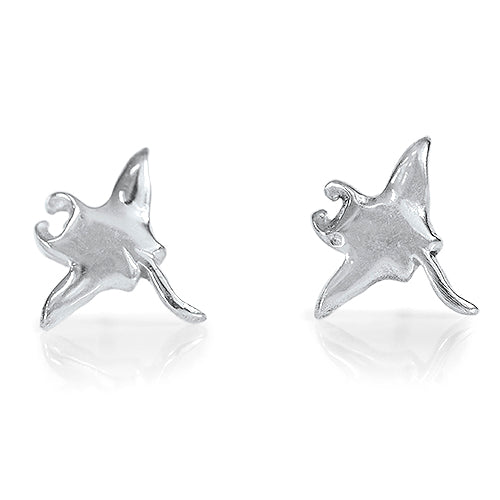 Manta Ray Earrings Sterling Silver Image