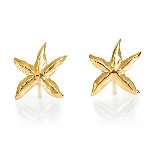 Star Fish Earrings  - Gold Plated