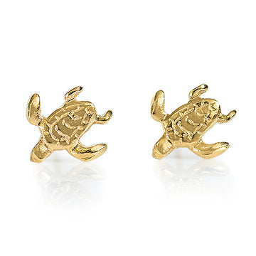 Turtle Earrings  - Gold Plated