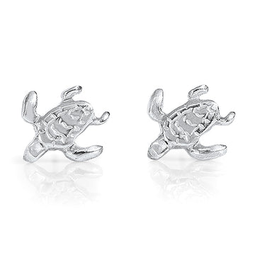 Turtle Earrings  - Sterling Silver