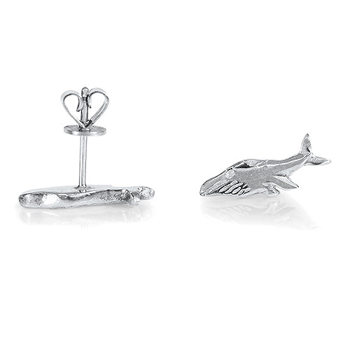 Whale Earrings  - Sterling Silver