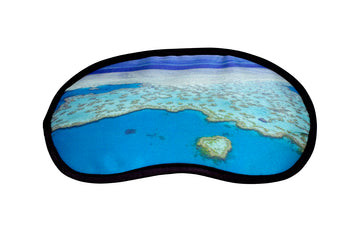 Eye Mask Blue Heart Print