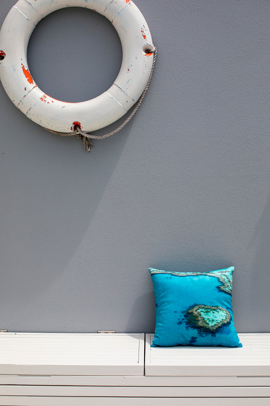 Cushion Cover Heart Reef Print
