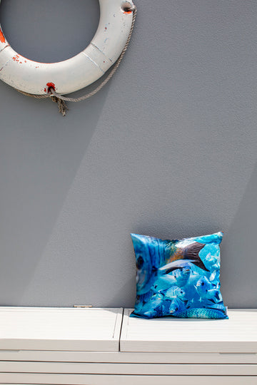 Cushion Cover - Damsel Fish Print