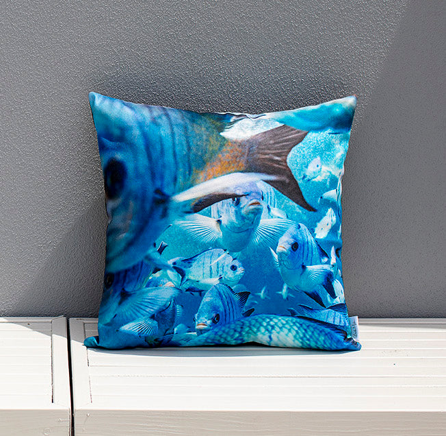 Cushion Cover Damsel Fish Print demo