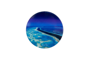 Round Glass Photo Coaster 'Reef River'