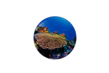 Round Glass Photo Coaster 'Rich'
