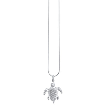 Turtle Pendant  - Sterling Silver