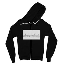Load image into Gallery viewer, Pastoral Landscape Fine Jersey Zip Hoodie