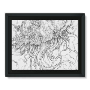 Jellyfish-O-War Framed Canvas