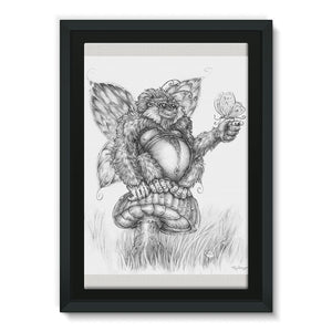 Pickles (The Fairy-Gorilla) Framed Eco-Canvas