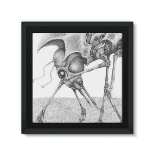 Giant Alien Bug Framed Canvas