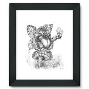 Pickles (The Fairy-Gorilla) Framed Fine Art Print