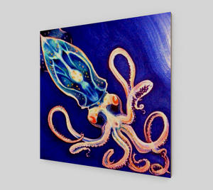 Translucent Squid Art - Wood Print