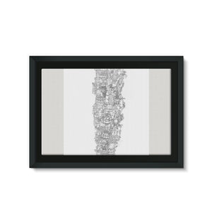Space Elevator Framed Eco-Canvas