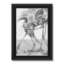 Load image into Gallery viewer, Giant Alien Bug Framed Eco-Canvas