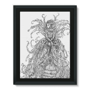 Lady Brambles Framed Canvas