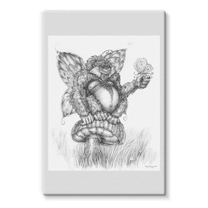 Pickles (The Fairy-Gorilla) Stretched Canvas