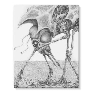 Giant Alien Bug Stretched Eco-Canvas