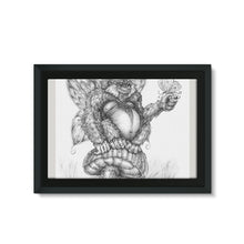 Load image into Gallery viewer, Pickles (The Fairy-Gorilla) Framed Eco-Canvas