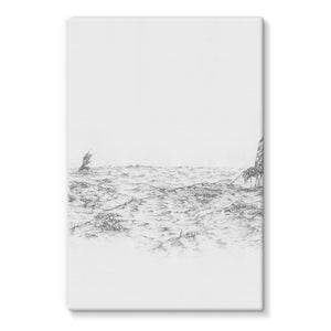 Pastoral Landscape Stretched Eco-Canvas
