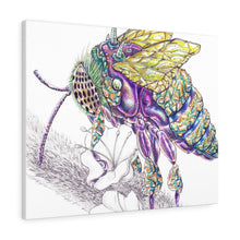 Load image into Gallery viewer, Circuitry Bee - Canvas Gallery Wraps