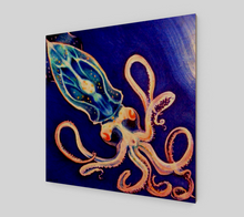 Load image into Gallery viewer, Translucent Squid Art - Fine Art Print - Wood Print