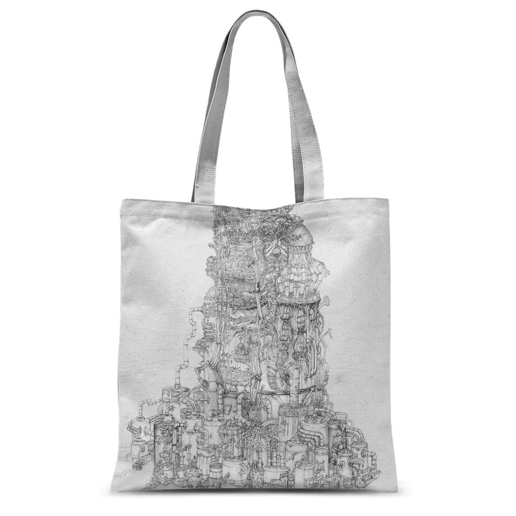 Space Elevator Sublimation Tote Bag