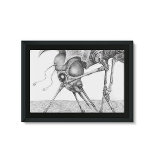 Giant Alien Bug Framed Eco-Canvas